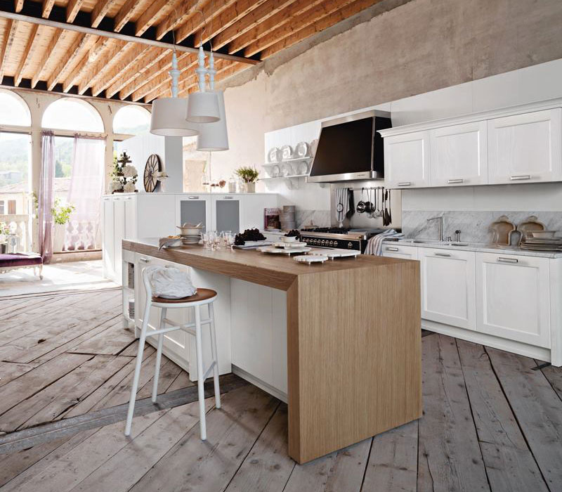 Arredo cucine con elettrodomestici salone del mobile - Cucine shabby chic moderne ...