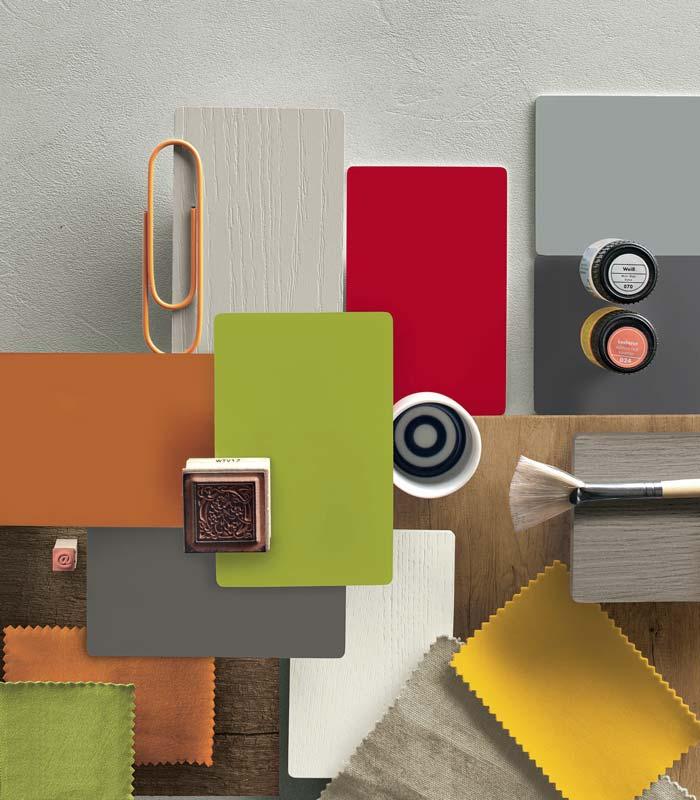 Materiali e colori d'arredo