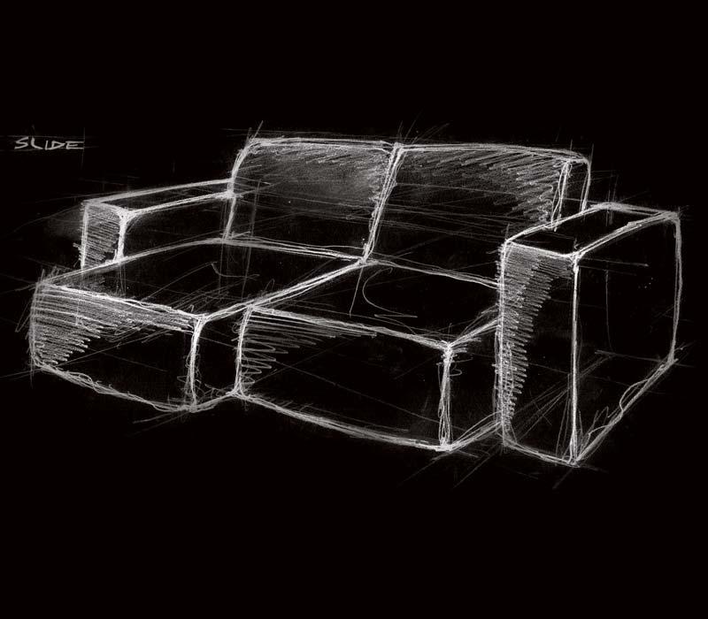 Salone del Mobile disegno a mano divano